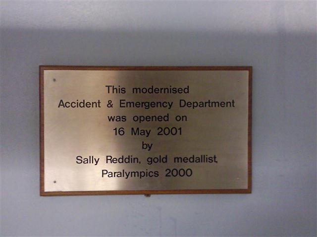 A modernisation sign