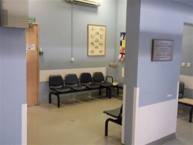 Waiting room for the cubicles