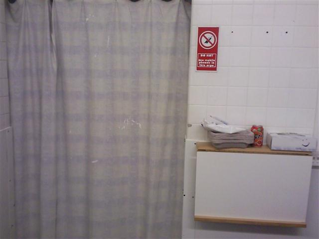 Cubicle curtain - with paint