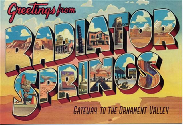 Radiator Springs Postcard